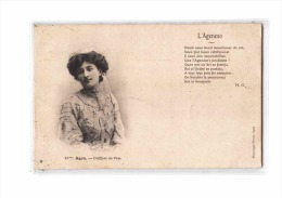 47 AGEN Types, L'Ageneso, Coiffure Du Pays, Poème De MG, Ed Perret 18 Ter, 190? - Agen