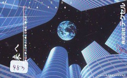 Télécarte Japon ESPACE * Phonecard JAPAN * SPACE SHUTTLE  (483)  PLANETE * COSMOS * GLOBE * TK * WELTRAUM * NASDA - Astronomie
