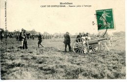 Camp De Coëtquidan  - Canons Prêts à L´attaque - Autres Communes
