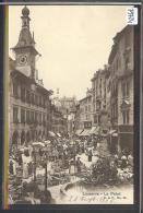 LAUSANNE - PLACE DE LA PALUD - HOTEL DE VILLE - LE MARCHE - TB - VD Vaud