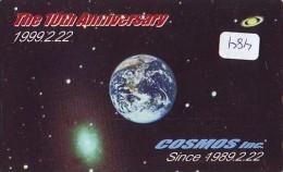 Télécarte Japon ESPACE * Phonecard JAPAN * SPACE SHUTTLE  (484)  PLANETE * COSMOS * GLOBE * TK * WELTRAUM * NASDA - Astronomie