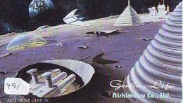 Télécarte Japon ESPACE * Phonecard JAPAN * SPACE SHUTTLE  (491)  PLANETE * COSMOS * GLOBE * TK * WELTRAUM * - Astronomie