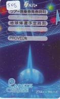 Télécarte Japon ESPACE * Phonecard JAPAN (508) SPACE * PLANETE * COSMOS * GLOBE * TK * WELTRAUM * SPECTRUM * UNIVERSUM - Espacio