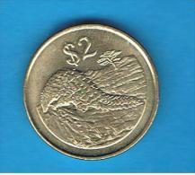 ZIMBABWE - 2 Dolar  1997  KM12  -  Pangolin Animal Coin - Zimbabwe