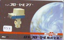Télécarte Japon ESPACE * Phonecard JAPAN (523) SPACE * PLANETE * COSMOS * GLOBE * TK * WELTRAUM * SPECTRUM * UNIVERSUM - Espace