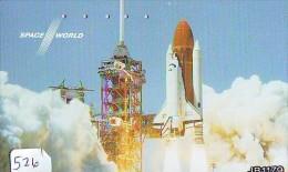 Télécarte Japon ESPACE * Phonecard JAPAN (526) SPACE * PLANETE * COSMOS * GLOBE * TK * WELTRAUM * SPECTRUM * UNIVERSUM - Espace