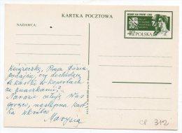 Entier N° 312 Sur CP - 50 Ans Au Service Du Sport Polonais - Militaire Club De Sport - Légion - 1966 - Stamped Stationery