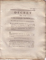DECRET - DE LA CONVENTION NATIONALE 20 JUILLET 1793 - QUI MET QUARANTE SIX MILLIONS SIX CENT QUATRE VINGT MILLE LIVRES - Decrees & Laws