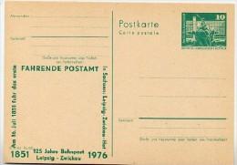 DDR P79-3a-76 C31-a Postkarte PRIVATER ZUDRUCK 125 Jahre Bahnpost Leipzig-Zwickau 1976 - Privatpostkarten - Ungebraucht