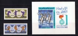 1972  Jeux Olympiques De Munich Sports, Guerriers à Cheval Timbres Et Bloc-feuillet Série Complète * - Syrie