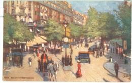 Paris Illustration Oilette Boulevard Montmartre - France