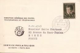 1957.  Yv 662 Seul Sur Carte Service Philathélique / 2186 - Storia Postale