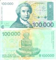 Billex6-107. Billete Croacia P-27.100.000 Dinares 30-5-93 - Croatia