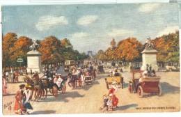 Paris Illustration Oilette Avenue Des Champs Elysées - France