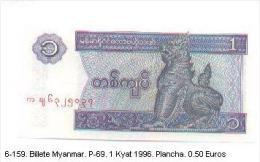 Billex6-159. Billete Myanmar P-69.1 Kyat 1996 - Myanmar