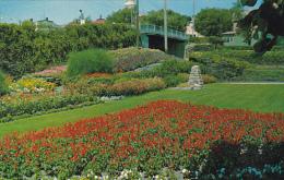 Canada Flower Garden At Canadian Pacific Railway Station Kenora Ontario - Ontario