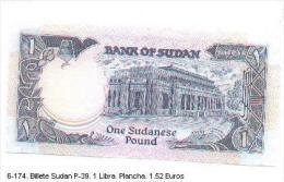 Billex6-174. Billete Sudan P-39. 1 Libra - Soudan