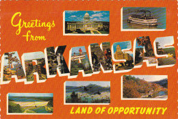 Map Of Arkansas Multi View Greetings From
