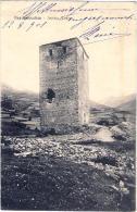 1901-Italia Cartolina Bardonecchia Antica Torre Viaggiata Annullo Tondo Riquadrato Borgonovo - Italia