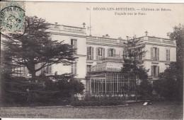 BECON-LES-BRUYERES (Hauts De Seine)  Château De Bécon Façade Sur Le Parc - VOIR 2 SCANS - - Francia