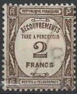 FRANCE - TAXE - 2 F. Sépia De 1927-31 Oblitéré - Taxes
