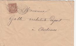 1891 Lettre, Largentiere Pour Aubenas BArdèche /2753 - Storia Postale