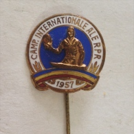 Badge / Pin (Table Tennis) - Romania International Tournament 1957 - Table Tennis