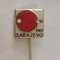 Badge / Pin (Table Tennis) - Yugoslavia Sarajevo 18th National Championship 1969 - Table Tennis