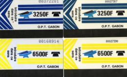 TELECARTES GABON 3250F/6500F  (lot De 4) ***** - Gabon