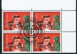 .B.I.T. BLOC DE 4 OBLITERE 1er/J.13.9.1988. C/.S.B.K. Nr:110. Y&TELLIER Nr:465. MICHEL Nr:109. - Officials