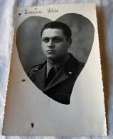 FOTO MILITARE -- WWII 2 GUERRA CON CUORE  ? NOMINALE - Guerra, Militares