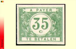 Belgium TX 36** Non Dentelé - MNH