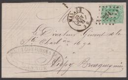 30 - BRIEF / LETTRE  Lp. 234  MANAGE 26-6-1871 >> STREPY - BRAQUEGNIES - 1869-1883 Leopold II.
