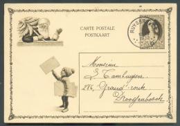 Entier Postal Carte Illustrée (Noël) 50 Centimes Elisabeth Bandeau Obl. Sc RUYSBROECK Du 3-I-1932 Vers Droogenbosch (sic - Illustrat. Cards