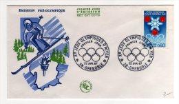 10 JEUX OLYMPIQUES D'HIVER 1967 - FDC