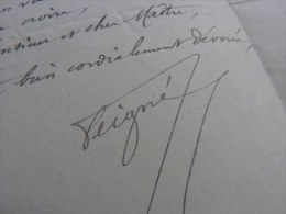 General PAUL PEIGNE - (1841-1919) - Inventeur BOUSSOLE Portative - AUTOGRAPHE. - Autographes