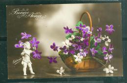 Biscuit , Ange , Corbeille De Fleurs - Abz40 - Sculptures