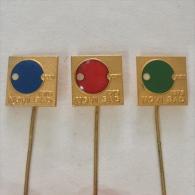 Badge / Pin (Table Tennis) - Yugoslavia Novi Sad XXII Championship 1973 - Table Tennis