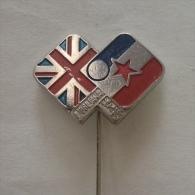 Badge / Pin (Table Tennis) - Yugoslavia Ljubljana (Jugoslavija Vs United Kingdom) 1976 - Table Tennis