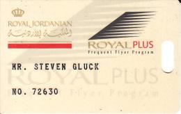Membercard   Airline  Flugzeug Royal Jordanian Air - Vliegtuigen
