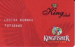 Membercard   Airline  Flugzeug Kingfisher Airlines - Vliegtuigen