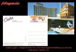 CUBA. ENTEROS POSTALES. TARJETA POSTAL FRANQUEO PREPAGO. 1998 EDIFIL 14. HOTELES DE LA HABANA - Altri
