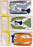 "DECOUPIS - LES AVIONS EN RELIEF - FRANCE - Lot De 3  Avions - "" GERFAUT II "" - "" MAURANE-SAULNIER"" - ""SUPER MYSTERE"" - Desde 1966"