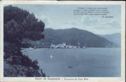 """Poesia Di G.Leopardi """"quando Il Ceruleo..""""su Cartolina Veduta Laigueglia   Anni 20 - Ethnics"""
