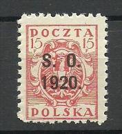 POLEN Poland Polska 1920 Old Stamp 15 F With OPT MNH - Taxe