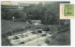 Woluwé St.Pierre   La Cascade Dans Le Parc  (avec Pont Chemins De Fer)  1920 - Woluwe-St-Pierre - St-Pieters-Woluwe