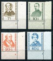 3034 - BUND - Mi.Nr. 222-225 (Helfer Der Menschheit), Postfrischer Eckrandsatz Unten Rechts - WEST GERMANY, Mnh Set - Unused Stamps