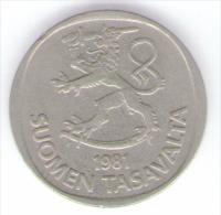FINLANDIA 1 MARKKA 1981 - Finnland