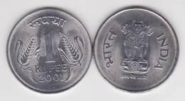 INDIA     1  RUPIA  2.001  ACERO   KM#92.2   SC/UNC   T-DL-10.247 - India