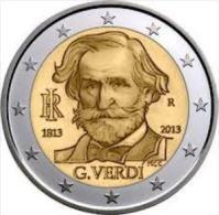 2 EURO  ITALIA 2013 GIUSEPPE VERDI ANNIVERSARIO DE LA NASCITA / Commemorativo - Italia